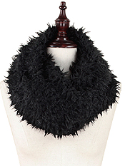 FUR TWIST TUBE 100% POLYESTER INFINITY SCARF