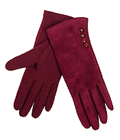 BUTTON ACCENT SMART TOUCH GLOVES - 100% ACRYLIC