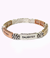 MULTI METALS MESSAGE BRACELET