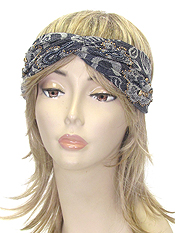 JACQUARD FABRIC TURBAN HEADWRAP