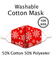 KIDS SIZE WASHABLE FACE MASK WITH FILTER INTERLAYER AND ADJUSTABLE LENGTH -FILTER NOT INCLUDED
