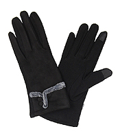 FAUX SUEDE GLOVES - 100% ACRYLIC