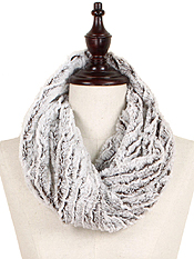 FUR TUBE 100% POLYESTER INFINITY SCARF