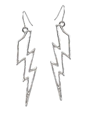 METAL LIGHTNING EARRING