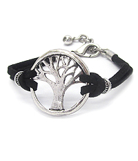 TREE OF LIFE LEATHERETTE BRACELET