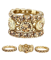 CRYSTAL MIX 3 STRETCH RING SET