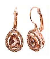 FACET TEARDROP GLASS AND CRYSTAL  EARRING