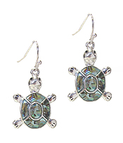 ABALONE TURTLE EARRING