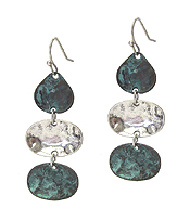 PATINA DISC DROP EARRING