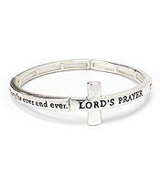 RELIGIOUS INSPIRATIONCROSS MESSAGE STRETCH BRACELET - LORD'S PRAYER