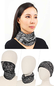 DOUBLE LAYER BANDANA MULTI USE FACE COVER - 100% POLYESTER