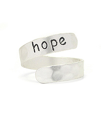 RELIGIOUS INSPIRATION SWIRL RING - HOPE