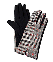 GLEN CHECK GLOVES - 100% POLYESTER