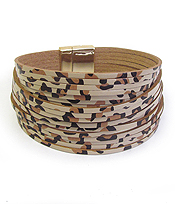 MULTI LAYER ANIMAL PRINT MAGNETIC BRACELET