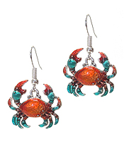 SEALIFE THEME EPOXY CRAB EARRING