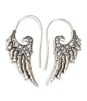 CRYSTAL ANGEL WING EARRING