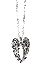 ANGEL WING PENDANT LONG NECKLACE