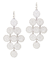 MULTI METAL FILIGREE DROP EARRING
