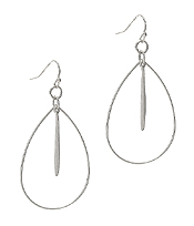 WIRE TEARDROP AND BAR EARRING