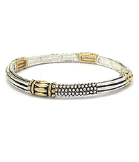 TEXTURED METAL STACKABLE STRETCH BRACELET