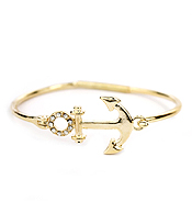 ANCHOR WIRE BANGLE BRACELET
