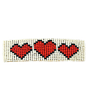 MULTI BEAD HEART HAIR PIN