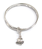 TEACHER THEME CHARM TWIST MESSAGE BRACELET