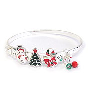CHRISTMAS THEME WIRE BANGLE BRACELET