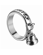 MERRY CHRISTMAS MESSAGE AND BELL CHARM RING