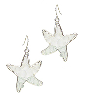 SEA GLASS STARFISH EARRING