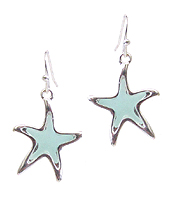 SEALIFE THEME SEA GLASS EARRING - STARFISH