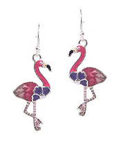 MULTI COLOR EPOXY EARRING - FLAMINGO