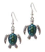 SEALIFE THEME EPOXY SEA TURTLE EARRING