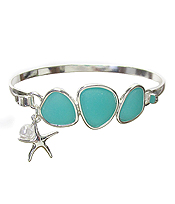 SEA GLASS BANGLE BRACELET - STAR FISH