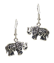 TEXTURED ELEPHANT EARRING