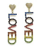 CRYSTAL LOVE THEME EARRING - LOVED