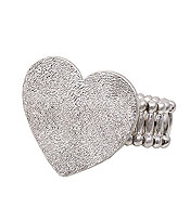 METAL HEART STRETCH RING