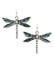 ABALONE DRAGONFLY EARRING