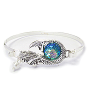 MERMAID SCALE WIRE BANGLE BRACELET