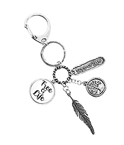 RELIGIOUS INSPIRATION MULTI CHARM CABOCHON KEY CHAIN - TREE OF LIFE
