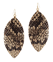 ANIMAL PRINT FAUX FUR FEATHER EARRING