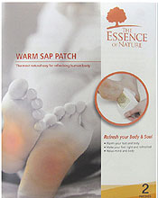 2 PC NIGHT TIME SAP PATCH SET - HELPS TO ABSORB BODY WASTES AND TOXINS - STIMULATE REFLEXOLOGY POINTS OF FOOT - IMPROVE THE QUALITY OF SLEEP