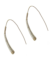 WIRE WRAP METAL BAR EARRING