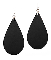 LEATHER TEXTURED TEARDROP EARRING