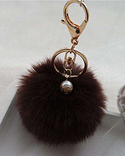 LOVELY FUR POM POM BAG CHARM OR KEYCHAIN