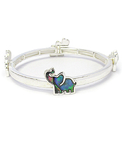 ABALONE ELEPHANT STRETCH BRACELET