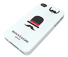 MOUSTACHE QUOTES THEME CELLPHONE CASE - HARD CASE FOR IPHONE 4
