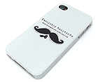 EMERGENCY MOUSTACHE THEME CELLPHONE CASE - HARD CASE FOR IPHONE 4