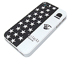 MUSTACHE MAN AND AMERICAN FLAG THEME CELLPHONE CASE - HARD CASE FOR IPHONE 4