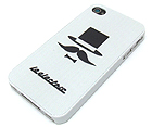 MUSTACHE MAN THEME CELLPHONE CASE - HARD CASE FOR IPHONE 4